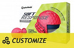 Taylormade Soft Response - Customize - logoboll Red